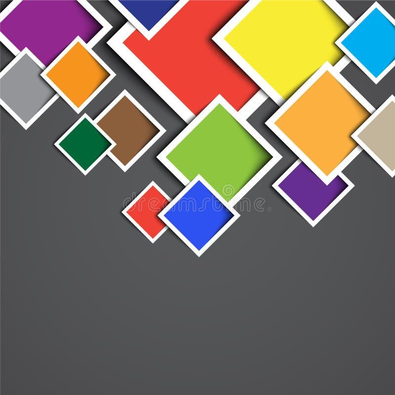 3d rectangle design template stock illustration