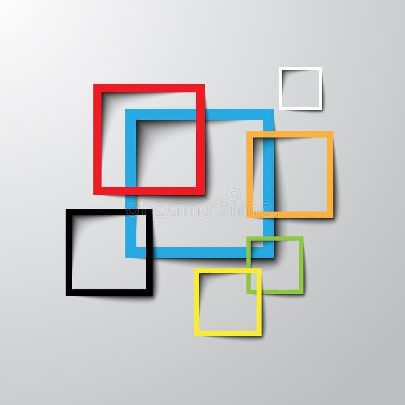 3d rectangle design template royalty free illustration