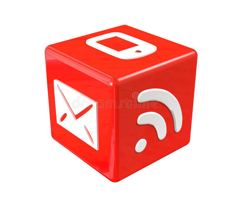 3d Red Cube Stock Photography