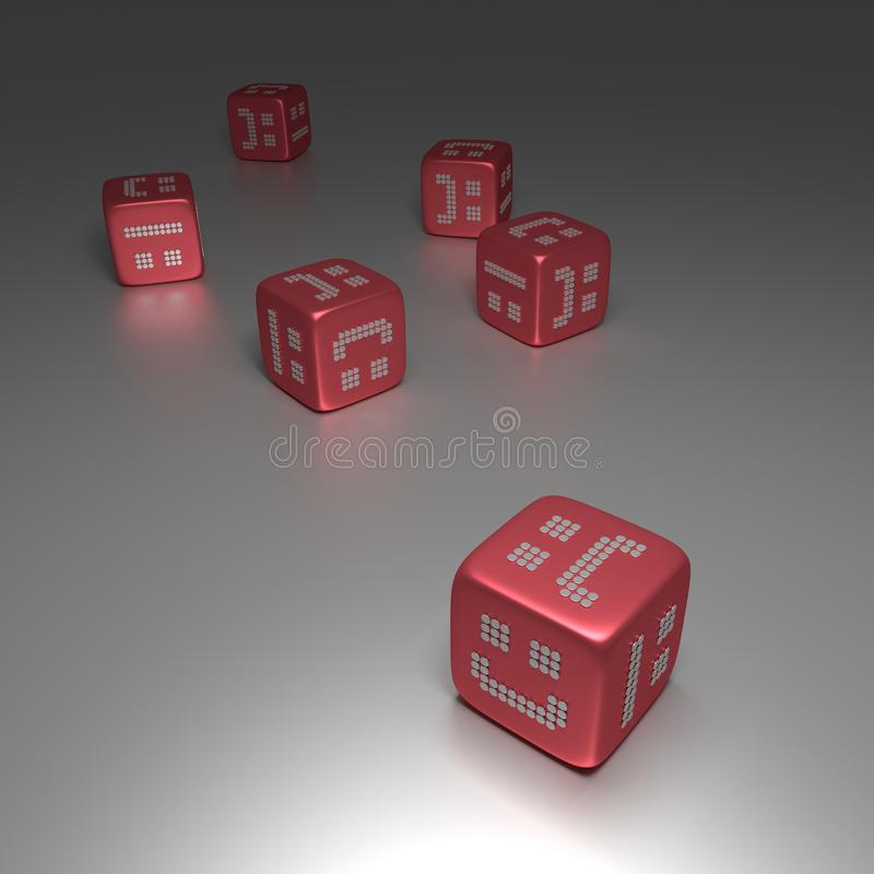 Download 3D Red Dices With Random Smilies Royalty Free Stock Photo - Image: 33465725