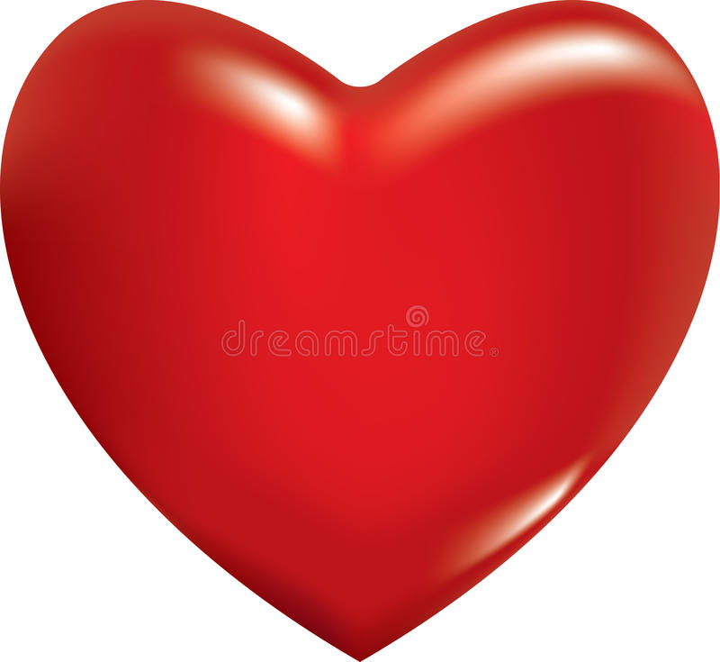 3d red heart royalty free illustration