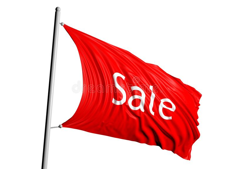 3D red sale flag