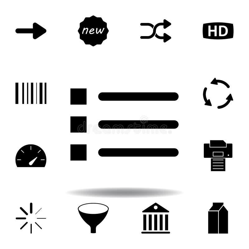 D?refter symbol f?r h?ger pil Tecknet och symboler kan anv?ndas f?r reng?ringsduken, logoen, den mobila appen, UI, UX royaltyfri illustrationer