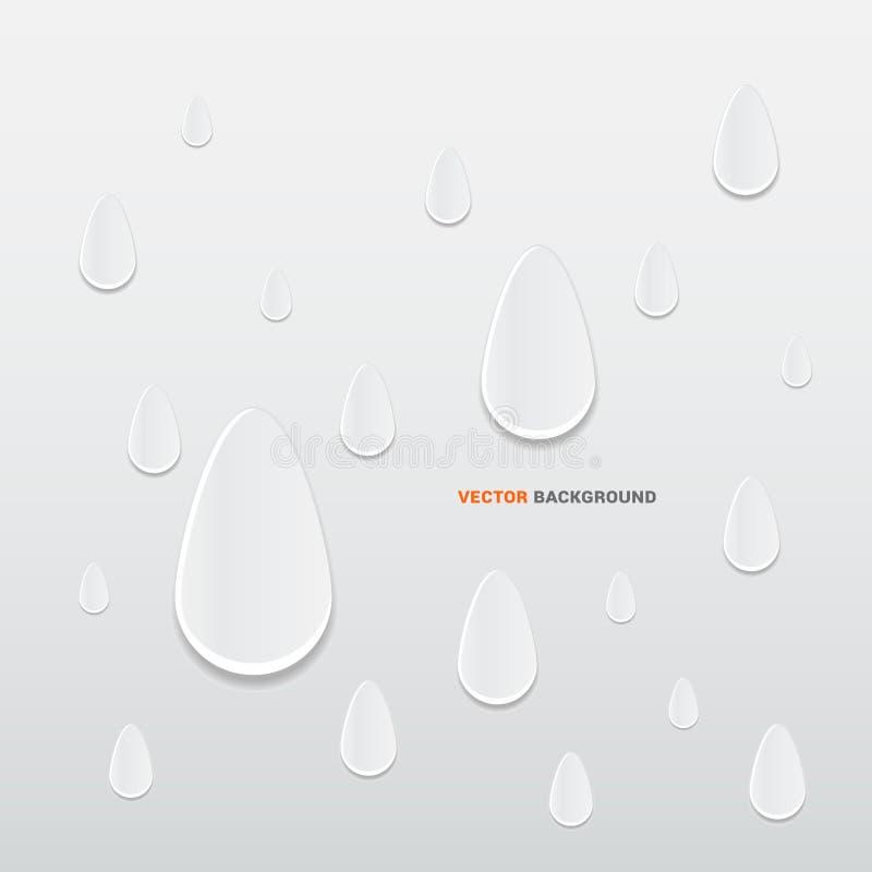 3D regendruppels abstracte achtergrond vector illustratie