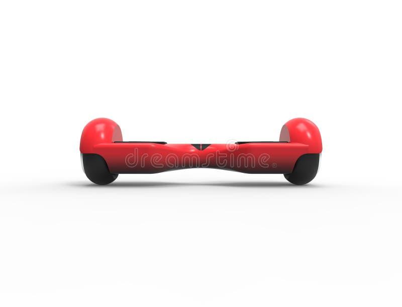 3D rendant l'illustration 3D d'un hoverboard rouge d'isolement illustration stock