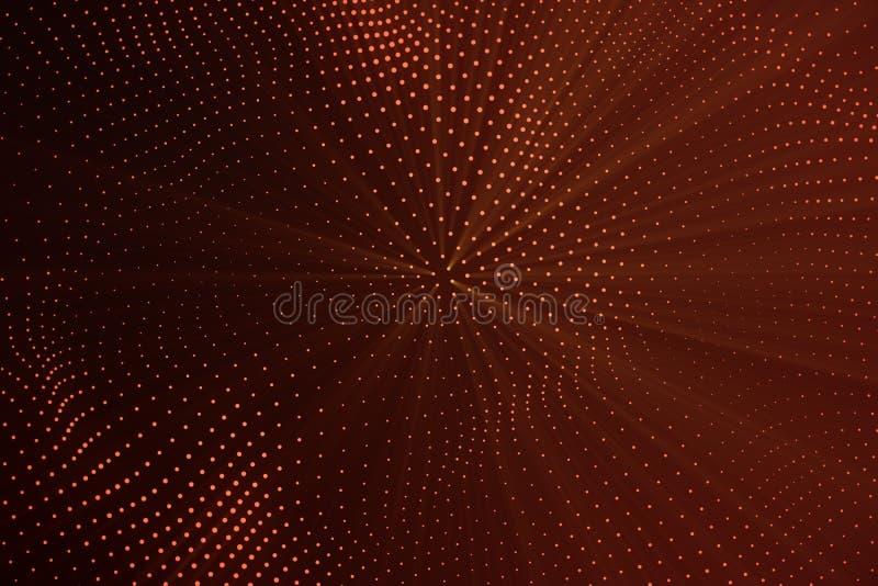 3d rendant le bas poly fond polygonal abstrait de vague avec les points et les lignes se reliants Flux abstrait connexion illustration stock