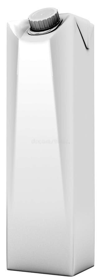 3D RENDANT le JUS de EMPAQUETAGE de LAIT D'ISOLEMENT SUR le FOND BLANC illustration de vecteur