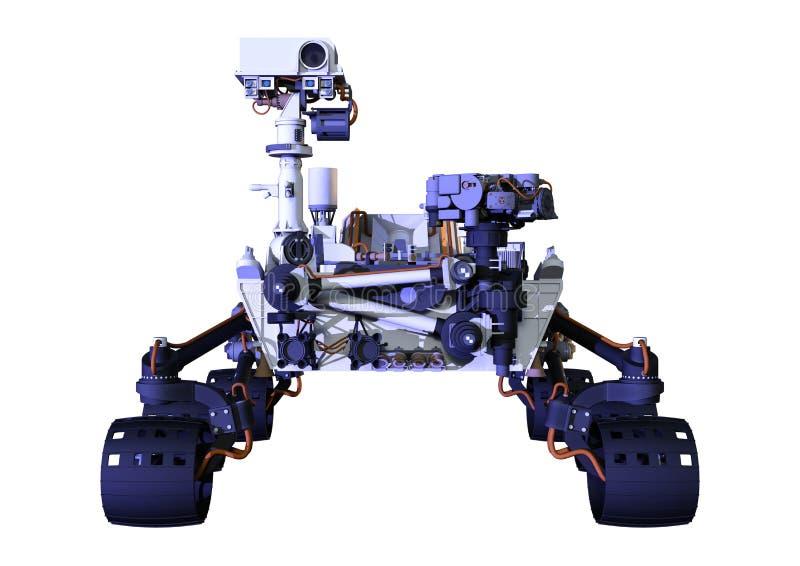 3D rendant Mars Rover sur le blanc illustration libre de droits