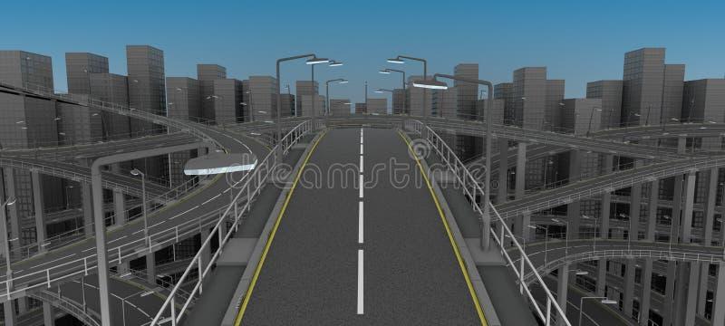 Autoestrada na cidade ilustração do vetor