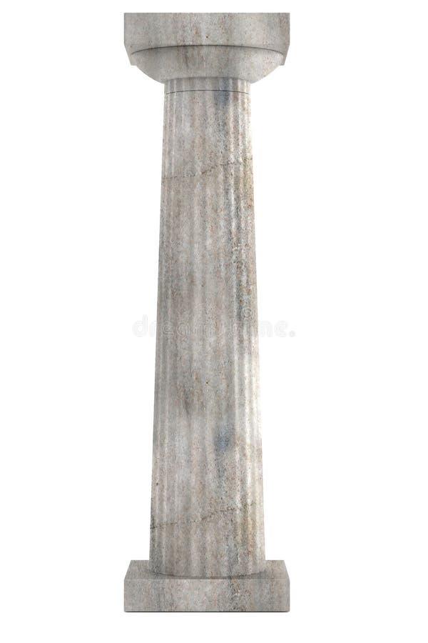 3d rendem da coluna doric ilustração stock
