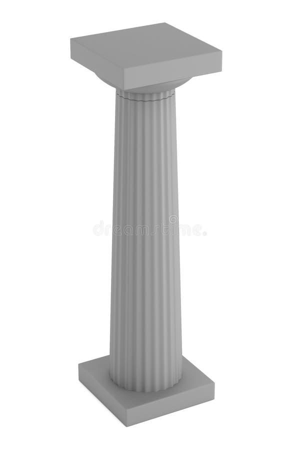 3d rendem da coluna doric ilustração royalty free