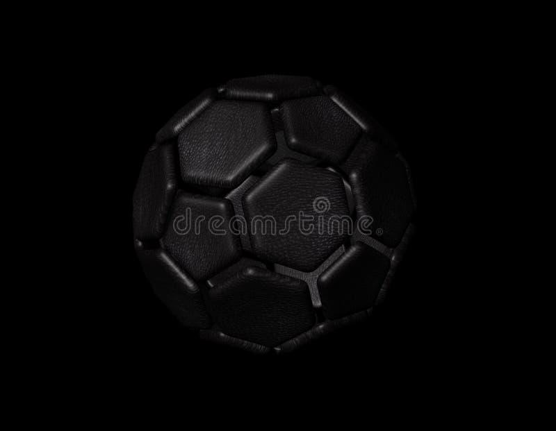 3d rendem da esfera de futebol ilustração stock