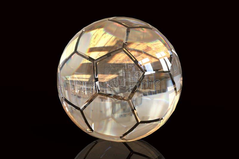 3d rendem da esfera de futebol ilustração royalty free