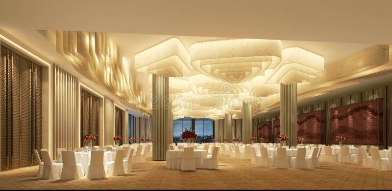 3d rendem da sala de reunião do hotel de luxo ilustração royalty free