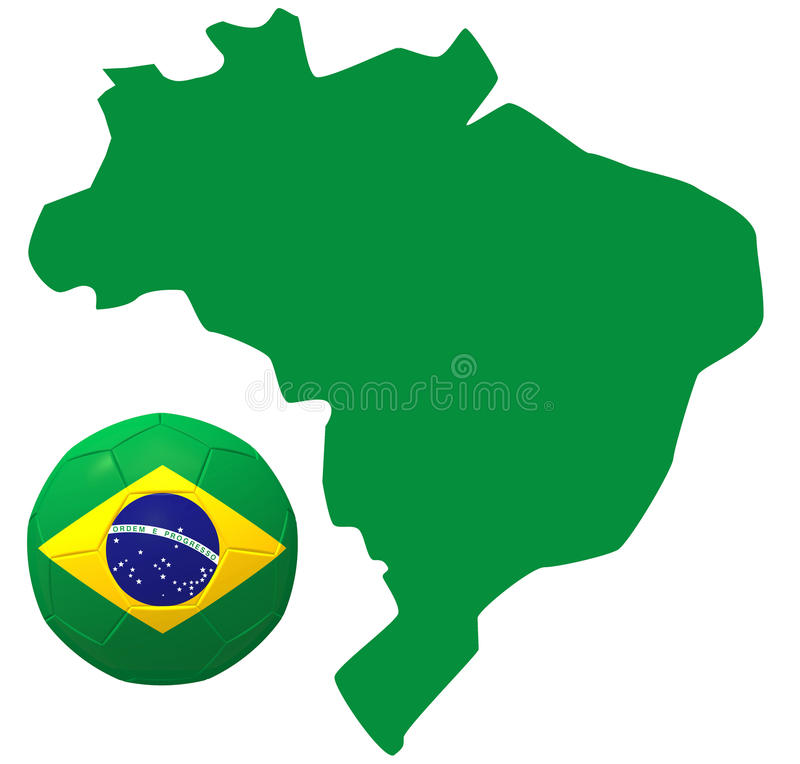 3D rendem de Brasil