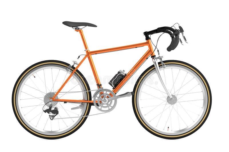 3d rendem de competir a bicicleta ilustração royalty free