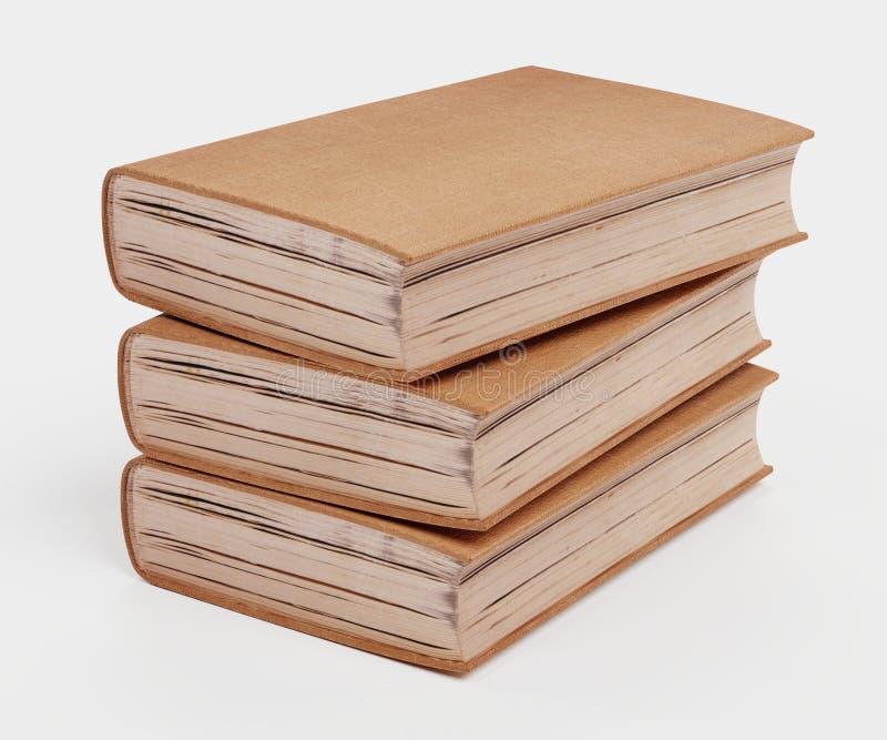 3D rendem de livros vazios ilustração stock