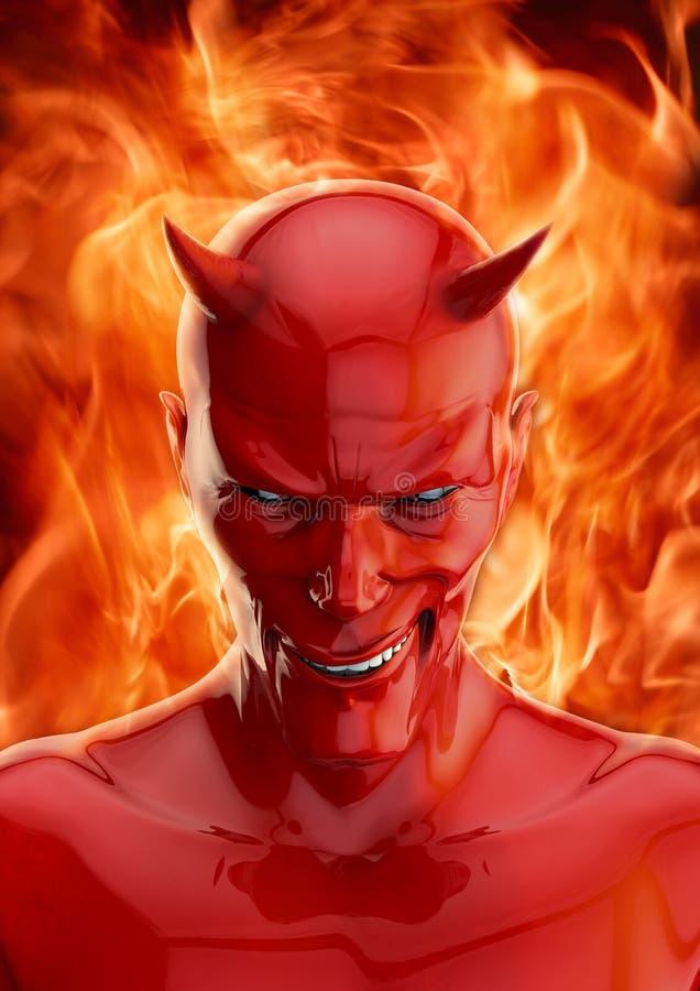 O diabo ilustração stock