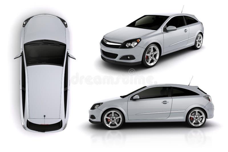 3d rendem de um carro desportivo ilustração royalty free