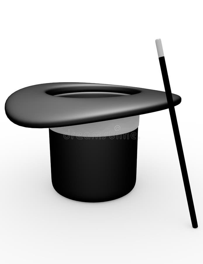 3d rendem de um chapéu dos mágicos ilustração do vetor