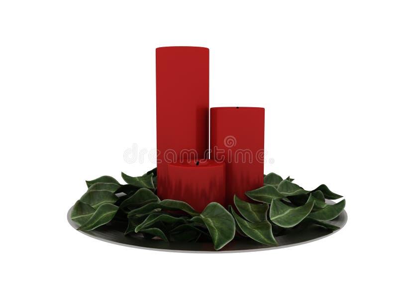 3d rendem de velas do Natal ilustração stock