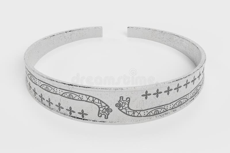 3D rendem de Viking Bracelet ilustração royalty free