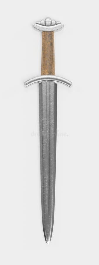 3d rendem de Viking Dagger ilustração royalty free