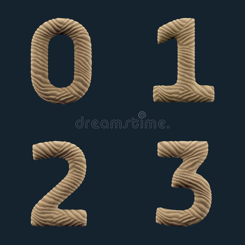 3D rendem do alfabeto da areia ilustração do vetor