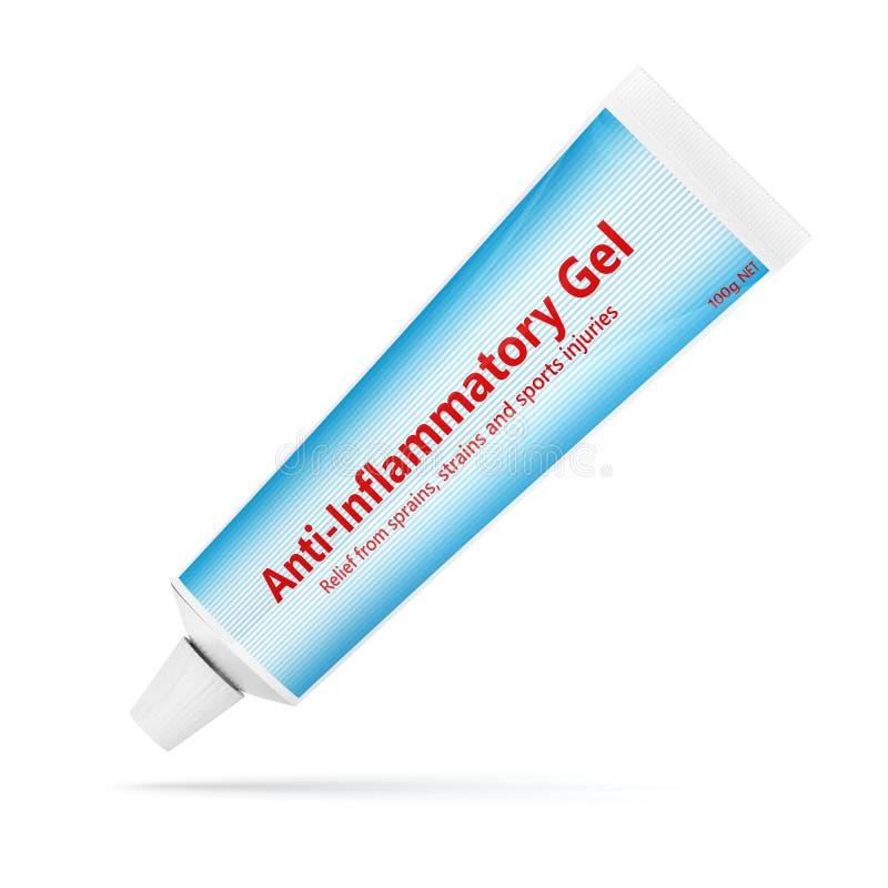 3d rendem do anti-infloammatory gel sobre o branco ilustração royalty free