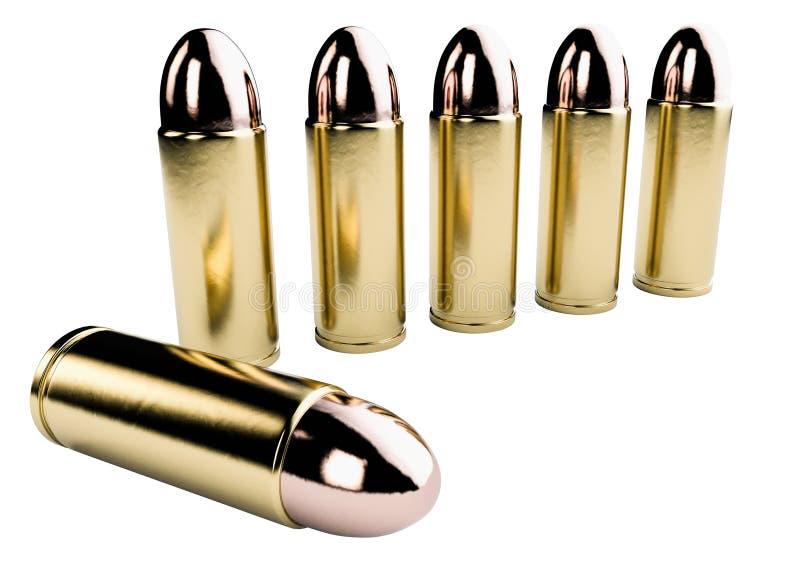 3d rendem do fundo das balas ilustração stock