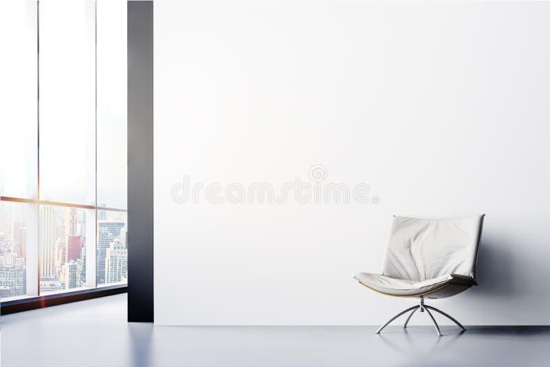 3d rendem do interior moderno bonito ilustração do vetor