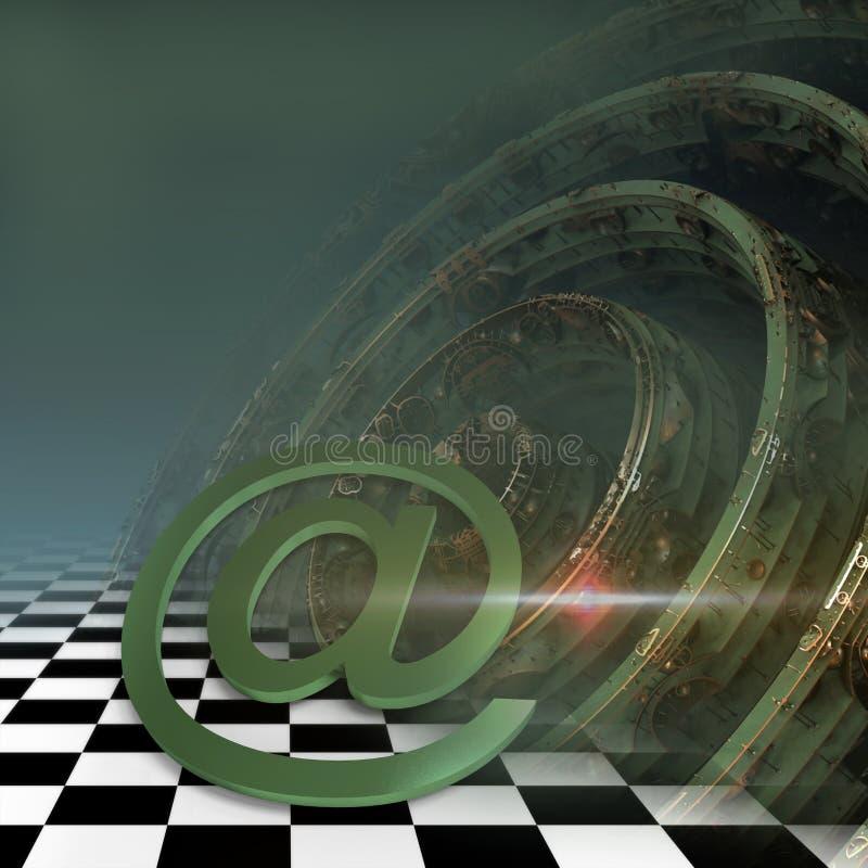3d rendem do símbolo do email ilustração royalty free