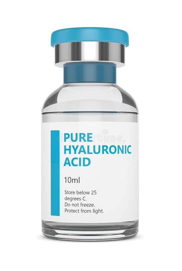 3d rendem do tubo de ensaio do ácido hialurónico ilustração stock