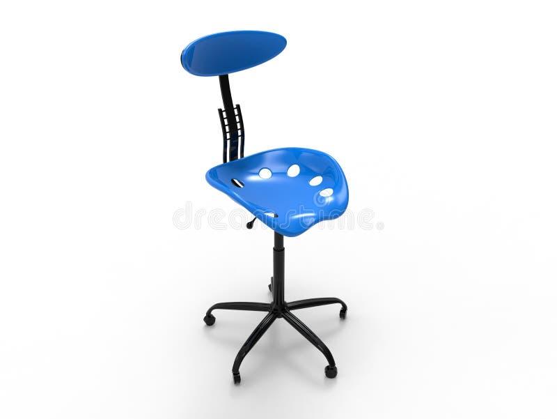 3D rendem a ilustração - cadeira ergonômica vazia ilustração royalty free