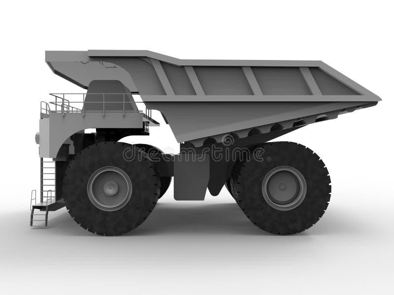 3D rendem a ilustração - caminhão de mineração ilustração do vetor