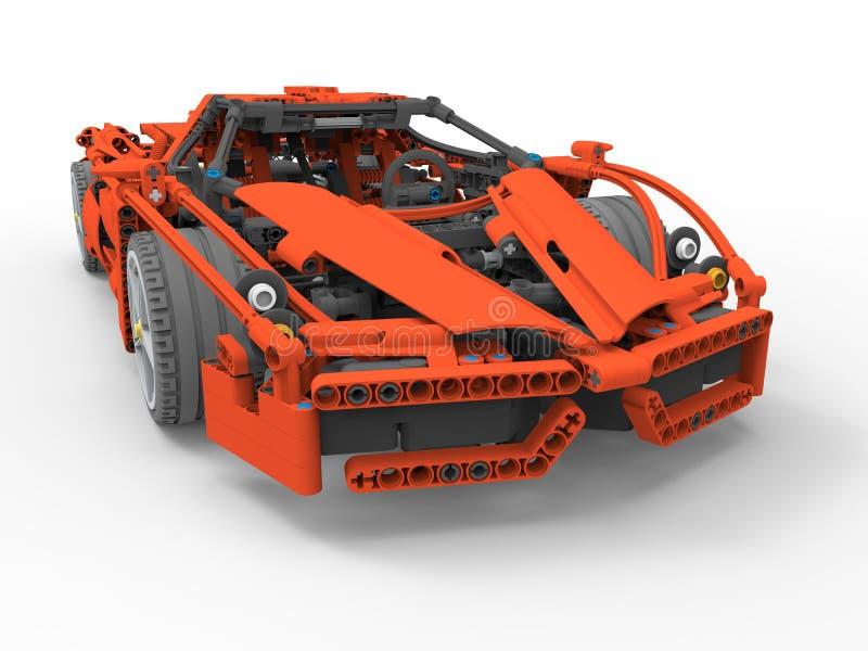 3D rendem a ilustração - carro de corridas do lego ilustração stock