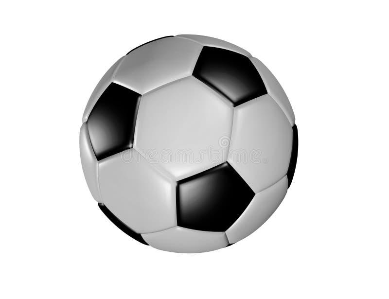 3d rendem a ilustração da bola de futebol ilustração do vetor