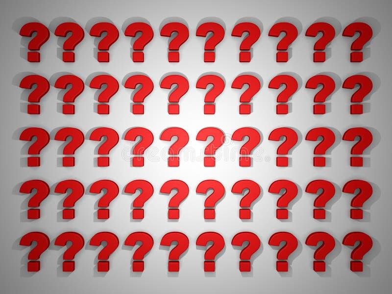3d rendem a ilustração de blocos do ponto de interrogação ilustração stock