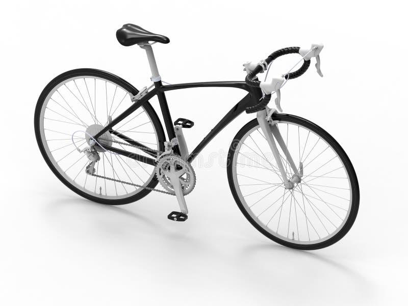 3D rendem a ilustração de uma bicicleta ilustração royalty free