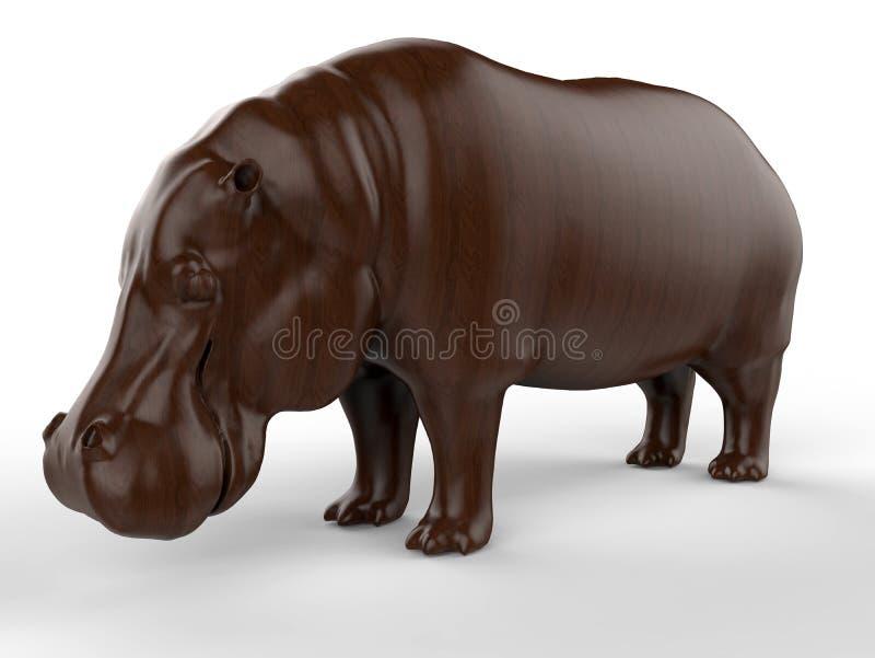 3D rendem - ilustração detalhada do hipopótamo ilustração royalty free