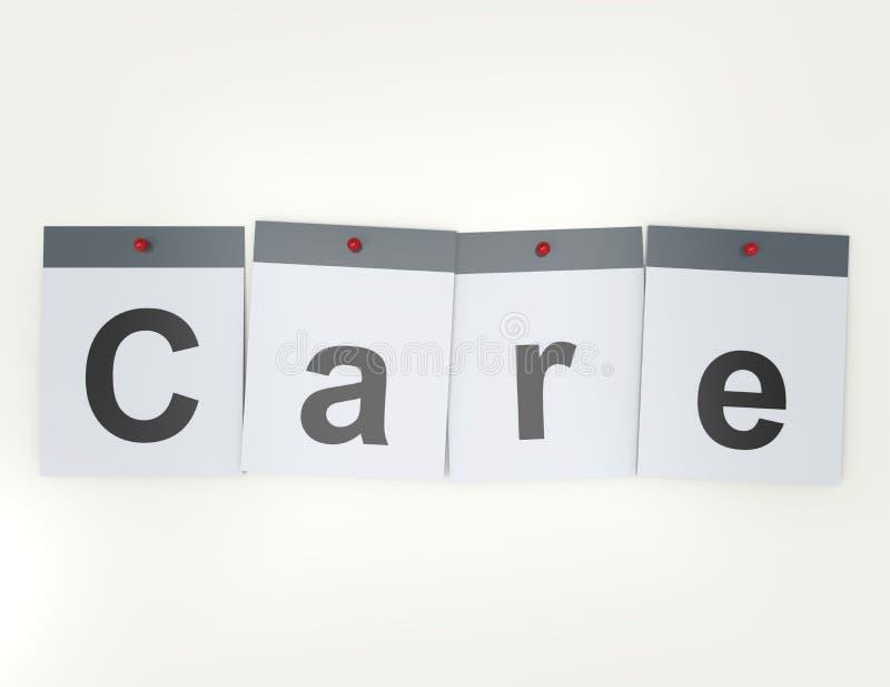 3D rendem o conceito das palavras cruzadas: Cuidados médicos ilustração royalty free