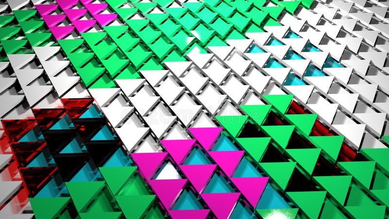 3D rendem o fundo abstrato Formulário do triângulo foto de stock royalty free