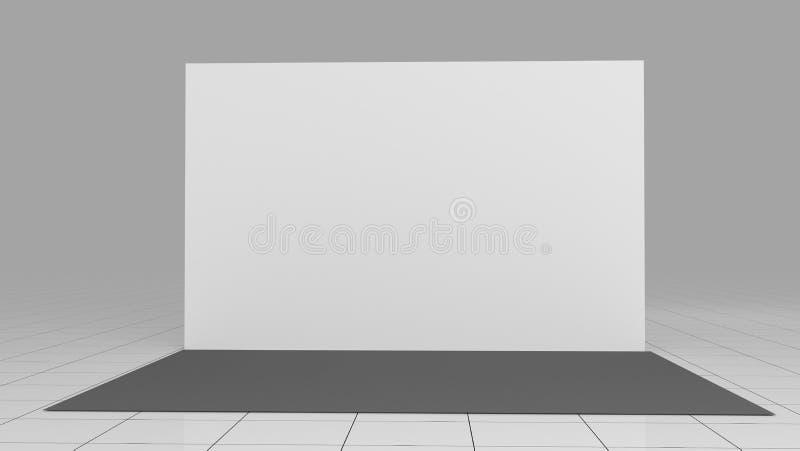 3d rendem a parede 4x2 da imprensa ? considerado como o s?mbolo do capital antigo xi ' backdrop Modelo 3d rendem isolado no fundo ilustração do vetor
