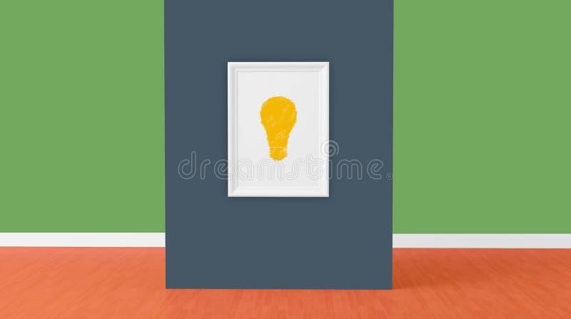 3d rendem, sinal da ideia no quadro ilustração royalty free