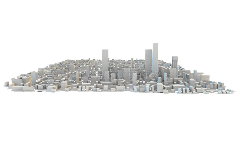 3d rendent d'un grand paysage urbain informe illustration stock