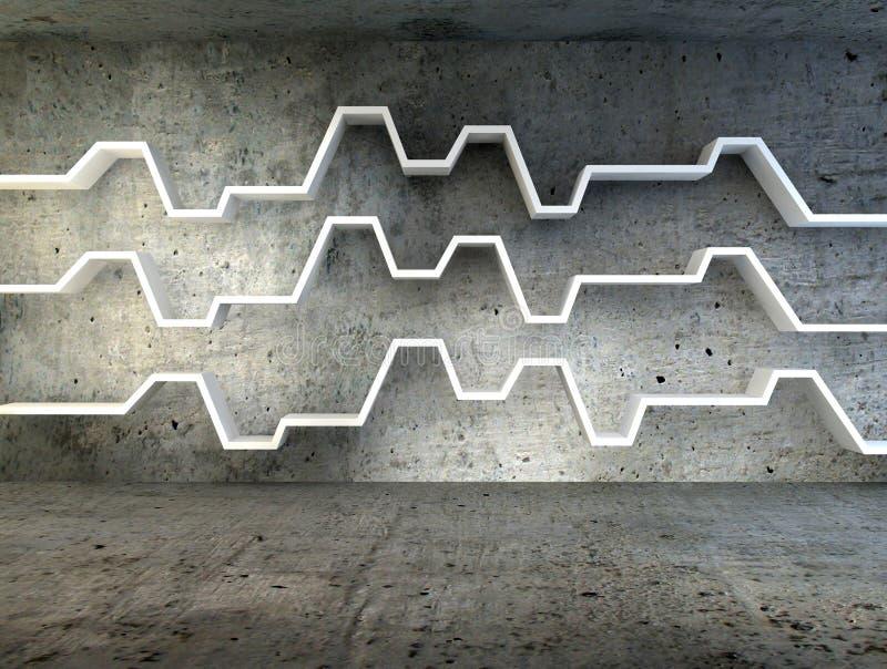 Download 3d Rendent De L'étagère Minimaliste Photo stock - Image du cement, monochrome: 45370886