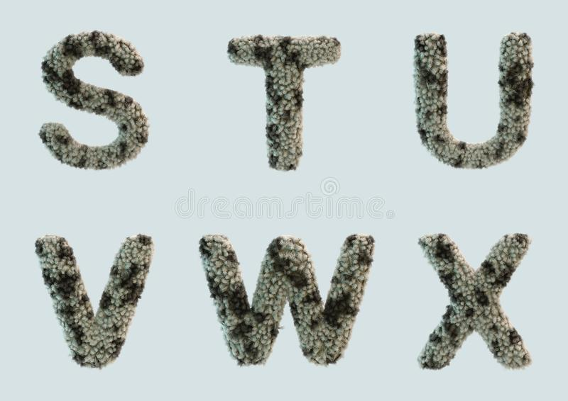 3D rendent de l'alphabet de fourrure illustration libre de droits