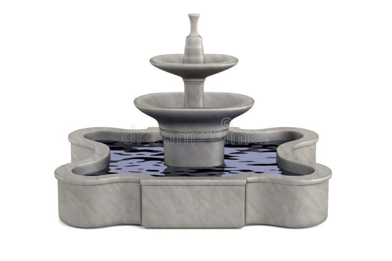 3d rendent de la fontaine illustration libre de droits