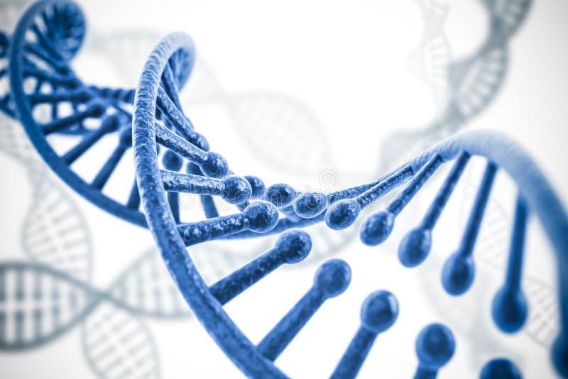 3d rendent de la structure d'ADN illustration de vecteur