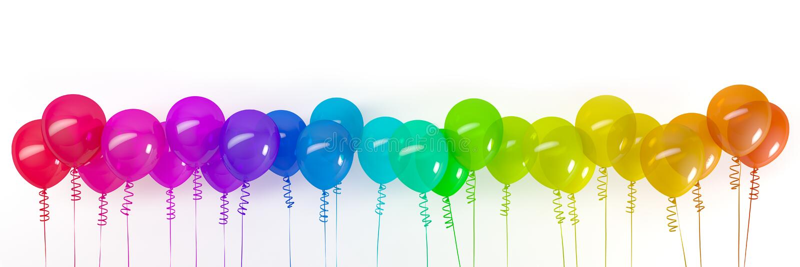 3d rendent des ballons color?s illustration de vecteur
